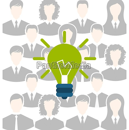 illustration group of business people gather