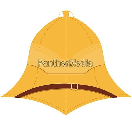illustration cork helmet on a white