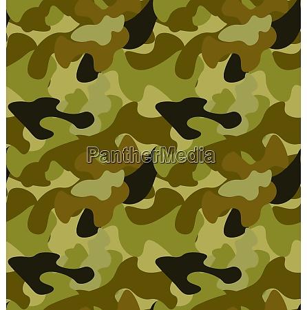 illustration seamless woodland camo pattern khaki