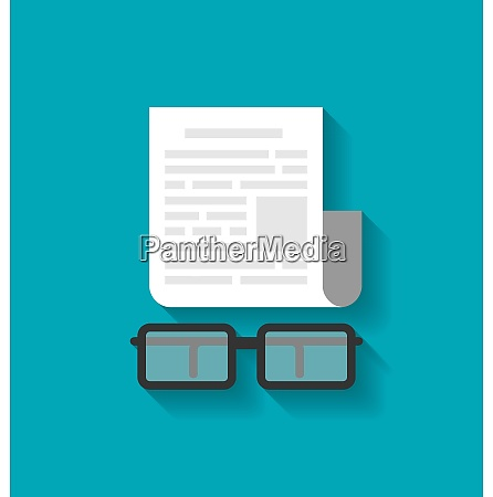 illustration flat icon of paper business