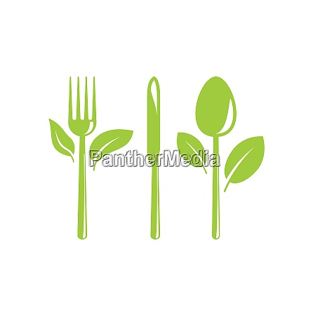illustration green healthy food icon with