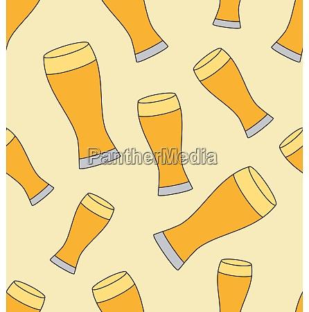 beer mug pattern seamless pattern with