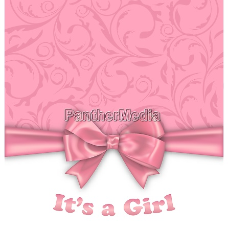 girl baby shower invitation card with