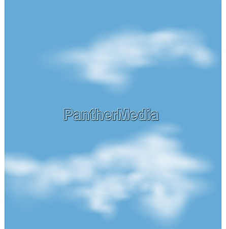 landscape atmosphere fluffy white clouds blue