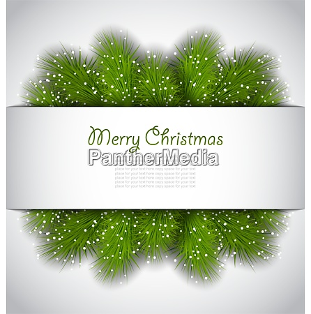 illustration christmas framework with green fir