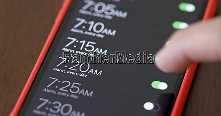 setting alarm for wake up morning
