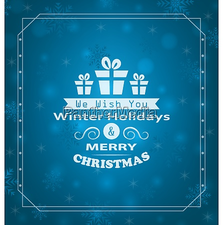 illustration merry christmas wishes typography design