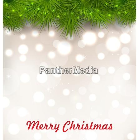 illustration christmas illuminated background with realistic