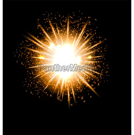 explosion fireworks powerful golden dust party