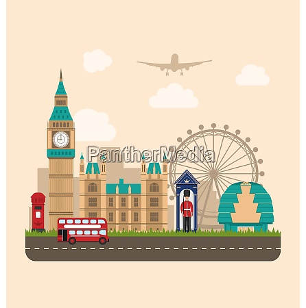 design poster for travel of england