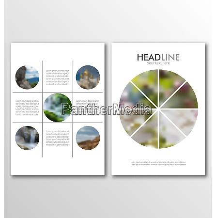 illustration business brochures blur backgrounds layout