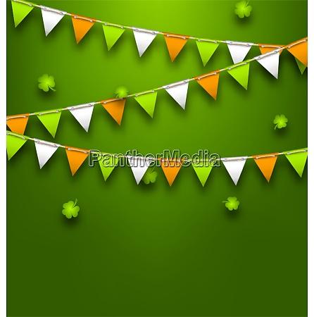 illustration bunting pennants in irish colors
