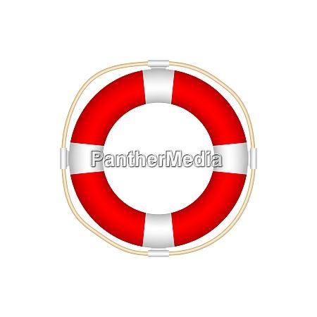 lifebuoy icon isolated on white background