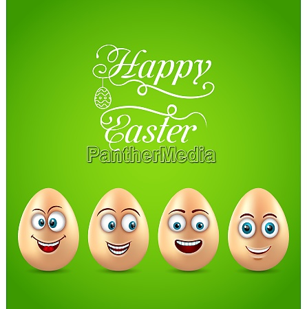 humor easter card with funny eggs