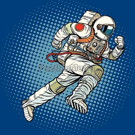 astronaut runs forward