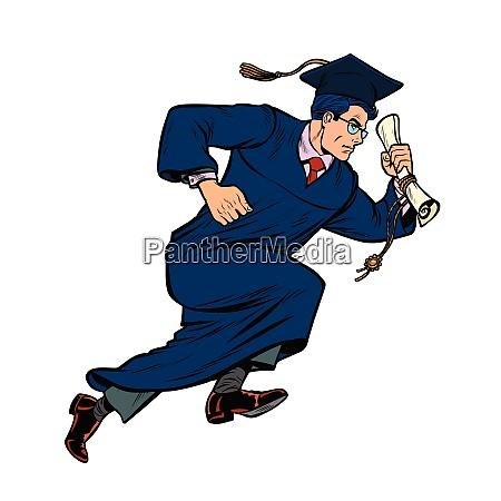 graduate of university college isolate on