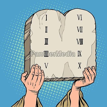 tables of the covenant ten commandments