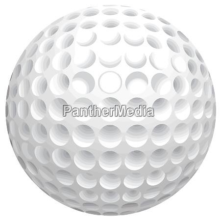 golf ball sport object detail round