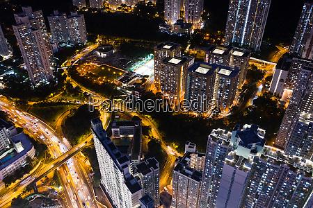 aerial view of hong kong building