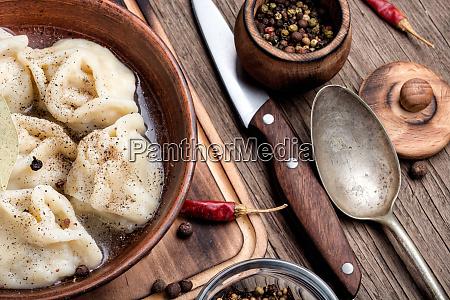 fresh boiled dumplings