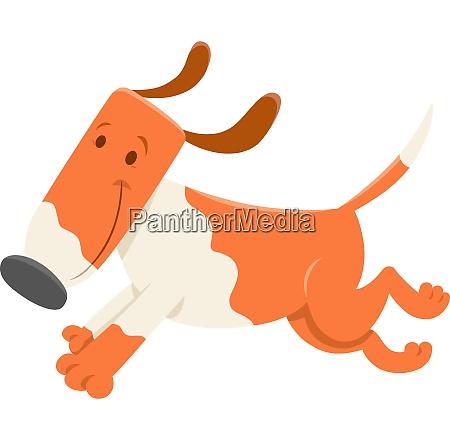 funny running dog cartoon character