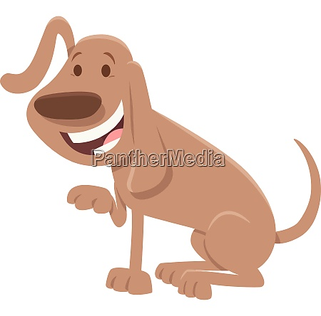 happy dog cartoon animal character