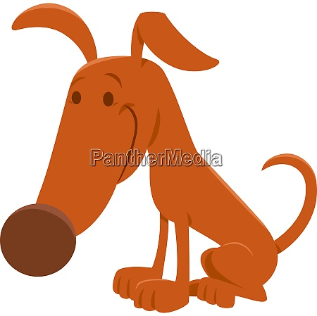 funny dog cartoon animal character