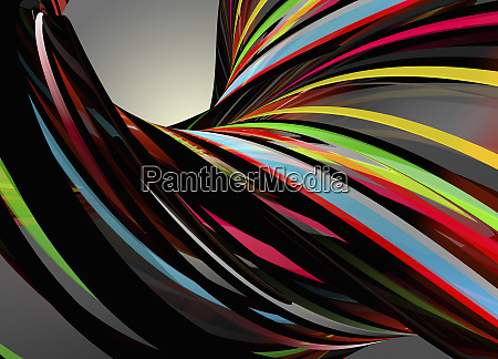 flowing multi coloured stripes