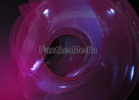 three dimensional translucent abstract spiral