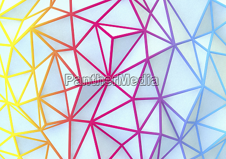 multi coloured abstract network pattern