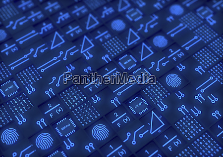 blocks of circuit board central processing