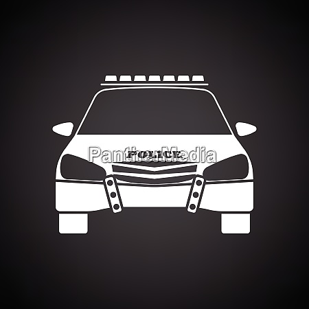 police icon front view