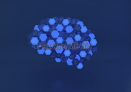 hexagonal blocks of circuit board and
