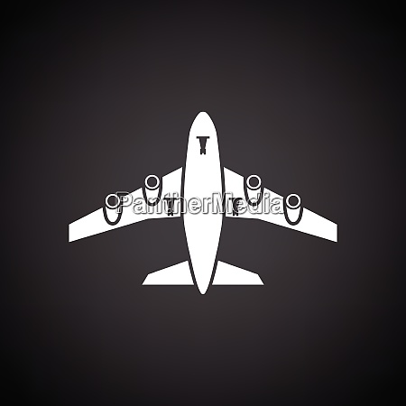 airplane takeoff icon front view