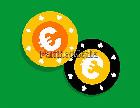 euro gambling chips