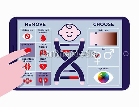 mobile app to choose designer baby