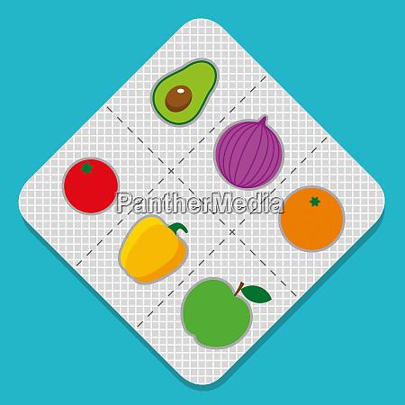 fresh fruit and vegetables in medicine