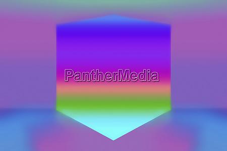 abstract rainbow geometric shape