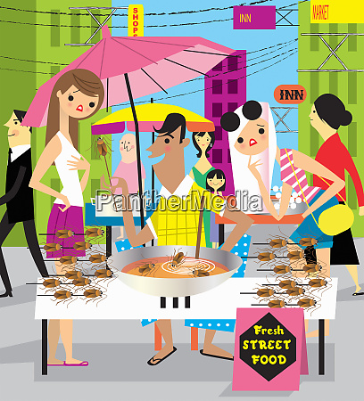 tourists disgusted at insect street food