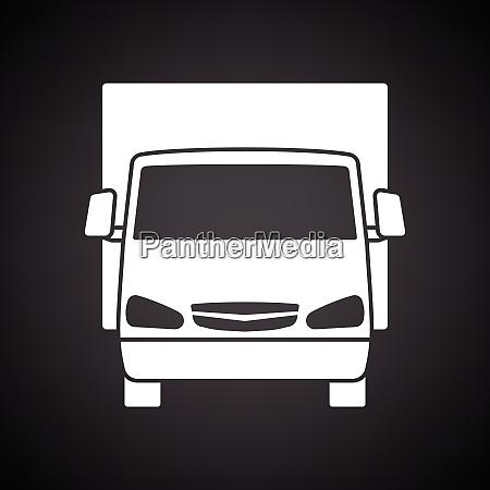 van, truck, icon, front, view - 26827467