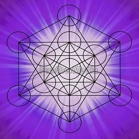 energy metatron cube sacred geometry