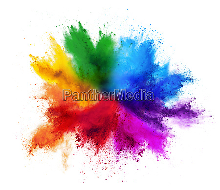 colorful rainbow holi paint color powder