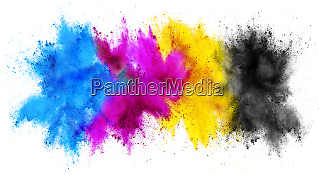 colorful cmyk cyan magenta yellow key