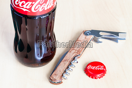 coca cola glass bottle used crown