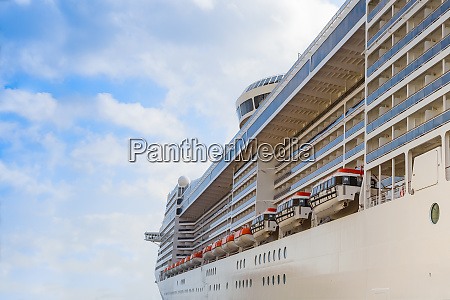 cruise liner passenger ship with lifeboats