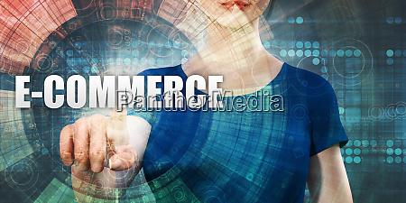woman accessing e commerce