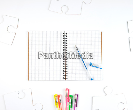 open notebook in a cell and