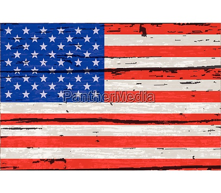 stars and stripes flag on old
