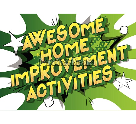 awesome home improvement activities comic