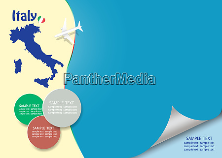 travel italy template vector with page
